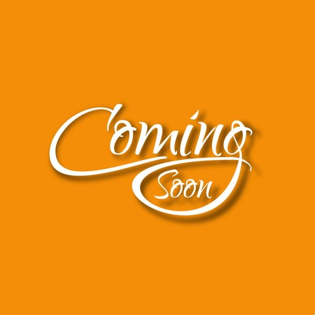 Coming soon text Background Free Vector