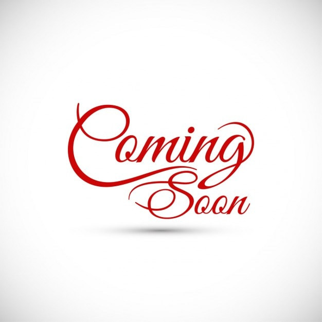 coming soon text design vector free download