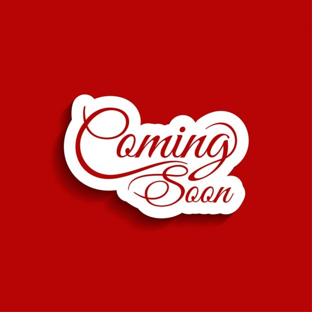 Coming Soon Text Red Background Vector Free Download