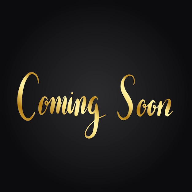 Coming soon typography style vector Free Vector