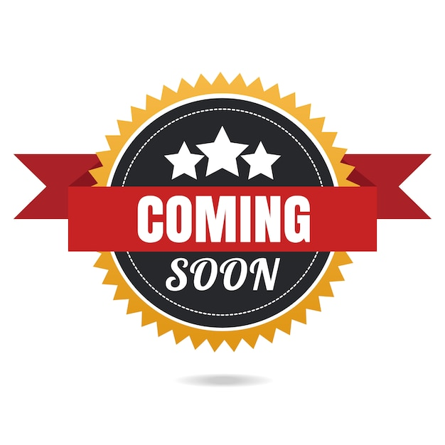 Coming soon vector badge. Premium Vector