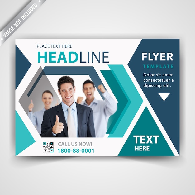 Commercial modern flyer cover Free Vector