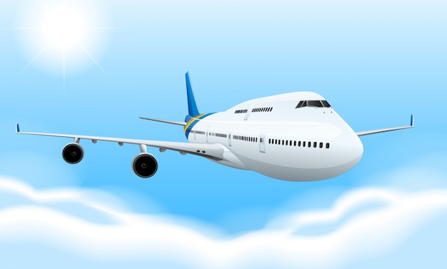 Commerical aircraft Free Vector