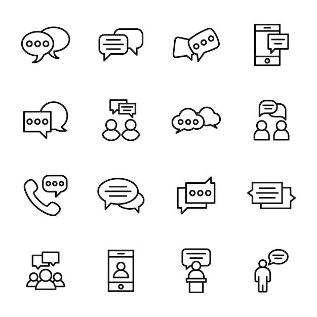 Communication, chat and messaging line Premium Vector