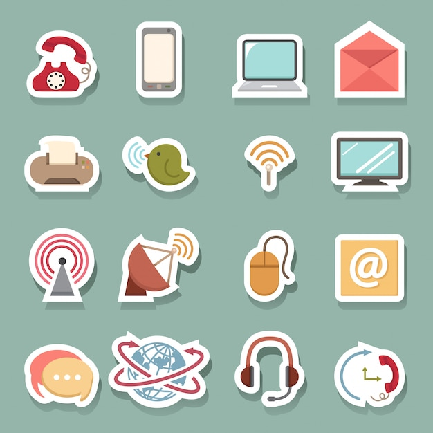 Communication icons Vector   Premium Download