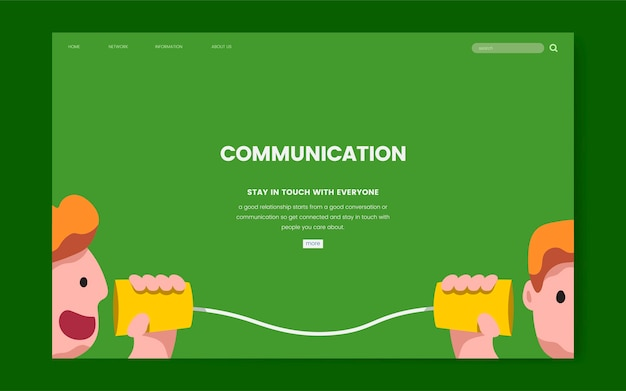 Communication and information website graphic Free Vector