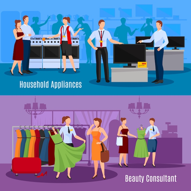 Communication of sellers with customers Free Vector