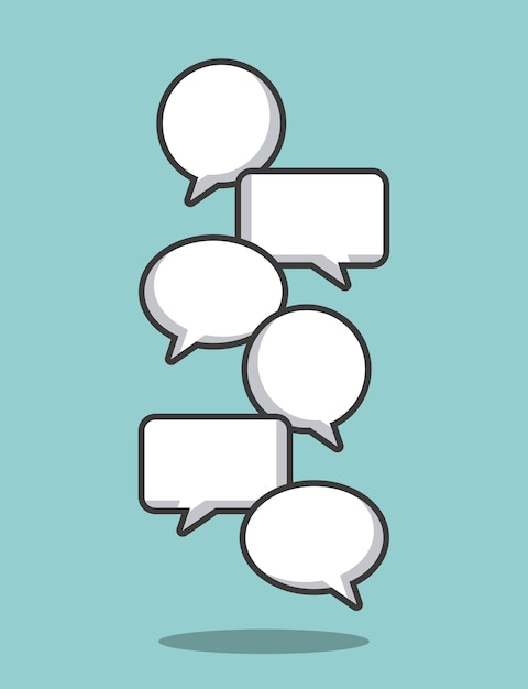 Communication speech bubble Premium Vector