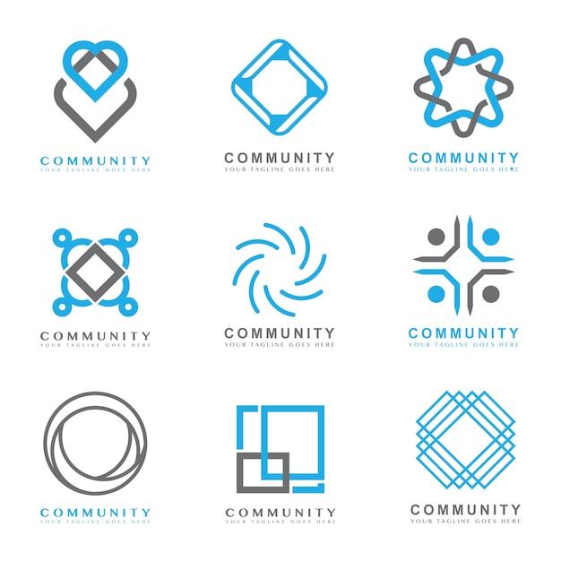 Community logo Free Vector