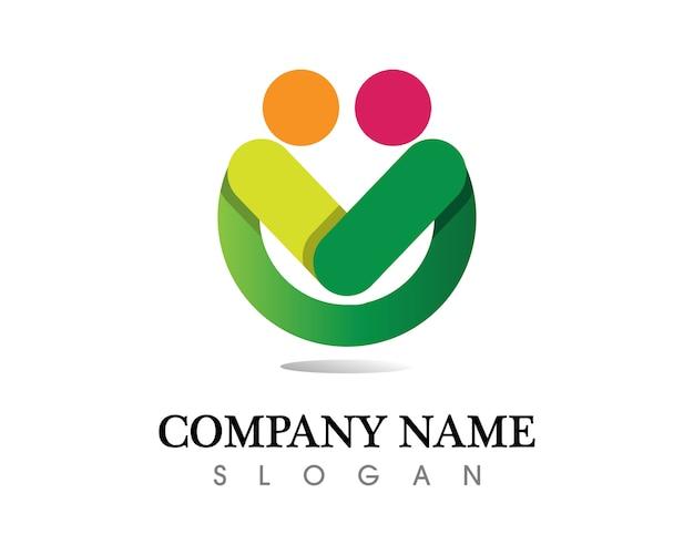 Community people care logo and symbols template Premium Vector
