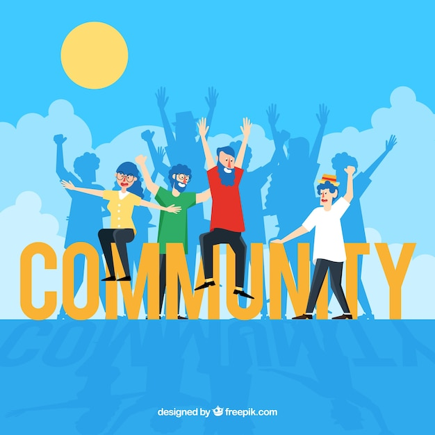 Community word concept Free Vector