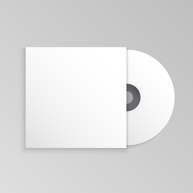 Compact disk and cover mockup template Vector | Premium Download