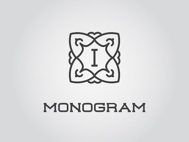 Компактный шаблон дизайна монограммы Premium векторы