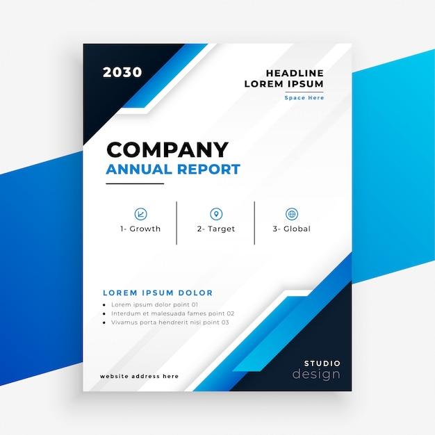 Azienda relazione annuale brochure modello di business design Vettore gratuito