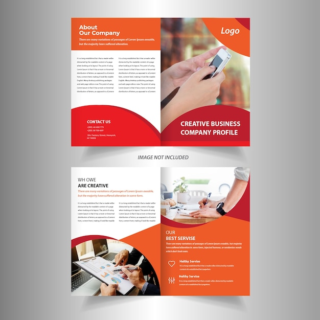 company bifold brochure design template vector premium download