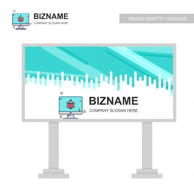 Company Bill Board Design With Creative Design Vector Free Vector