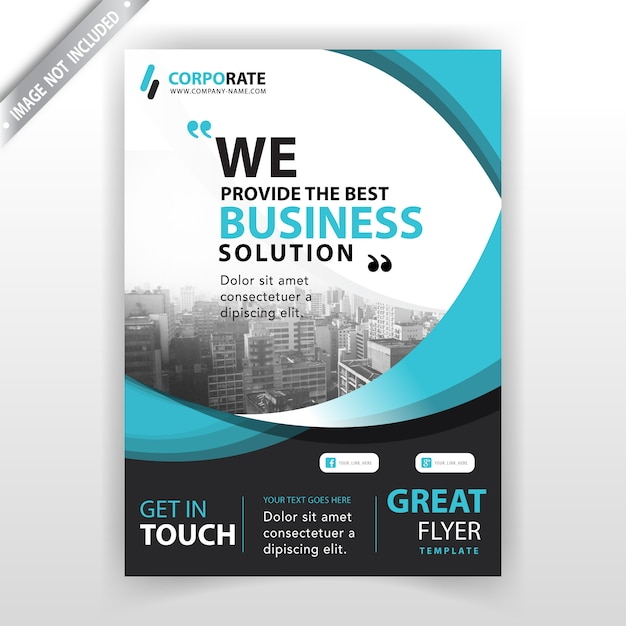 Company booklet cover template Free Vector