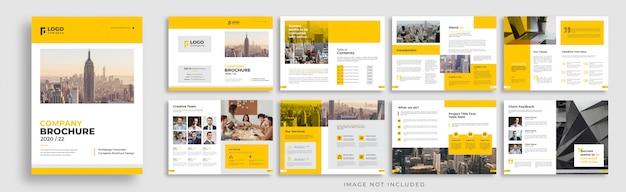 会社パンフレットマルチページtemplaeレイアウトデザイン Premiumベクター