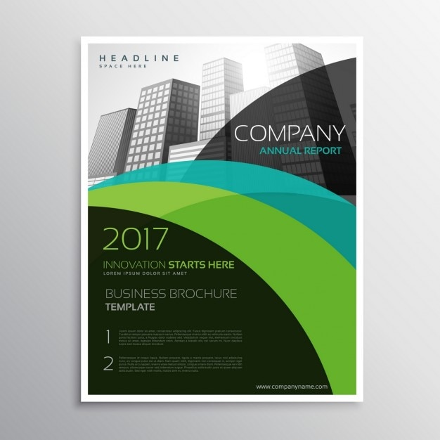 Company brochure template in abstract style vector free for Company brochure template