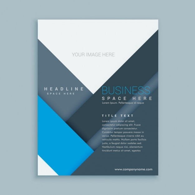 free company brochure template - company brochure template with minimalist shapes vector
