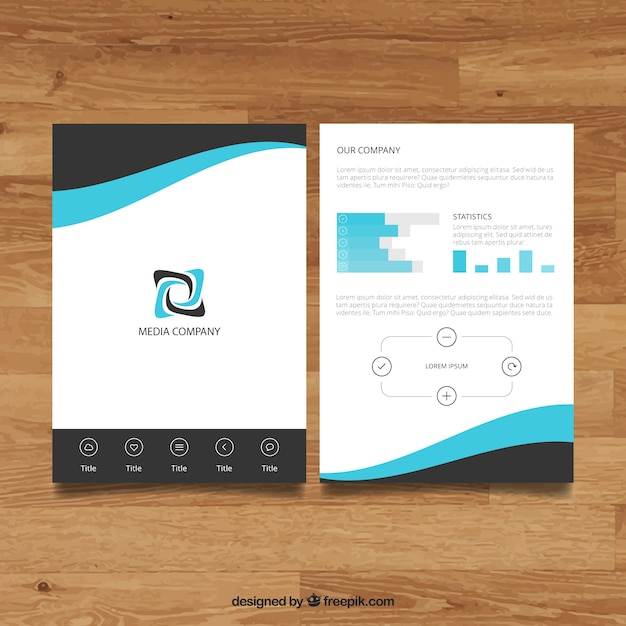 Company brochure template vector free download for Company brochure template free download