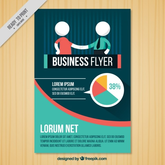 Company brochure with a agreement Free Vector