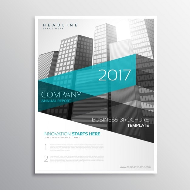 Company brochure with buildings in modern style