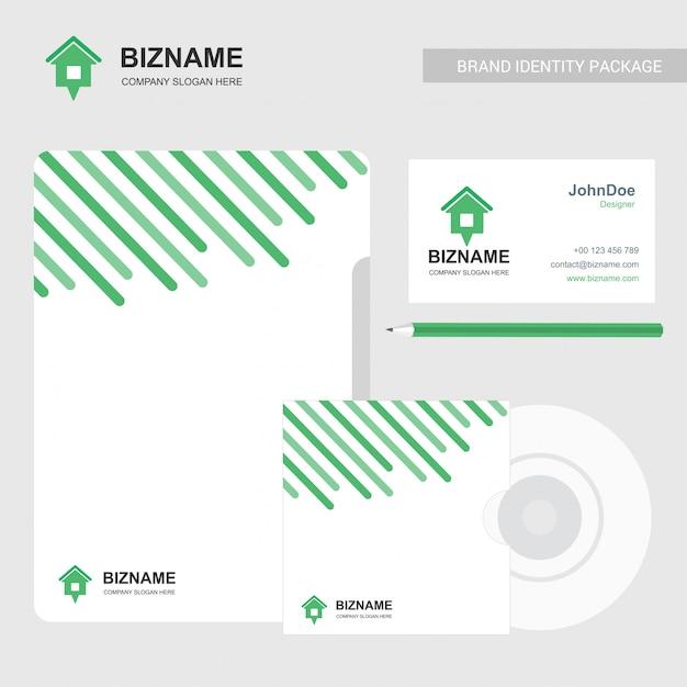 Company brochure with company logo and stylish design Free Vector