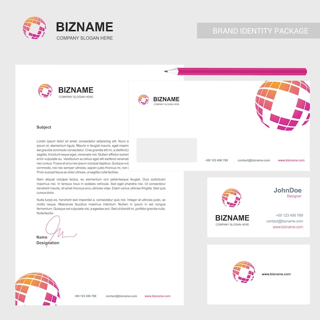 Company brochure with elegant design Free Vector