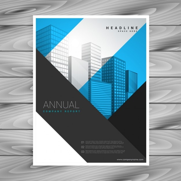 Company brochure with stripes in modern style