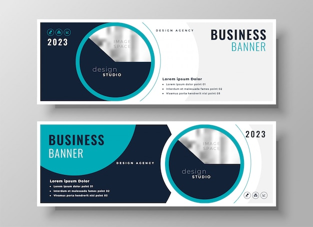 Company business banner professional layout design Free Vector