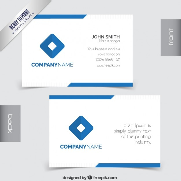 pany business card Vector
