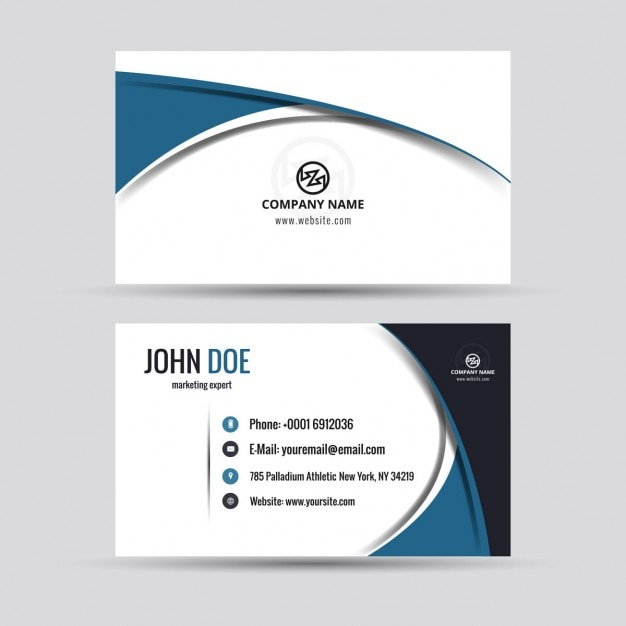 Company card in modern style vector free download company card in modern style free vector reheart Choice Image