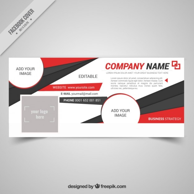 Company cover timeline in abstract style
