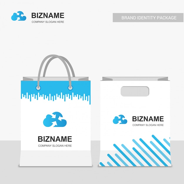 Company design shopping bags Free Vector