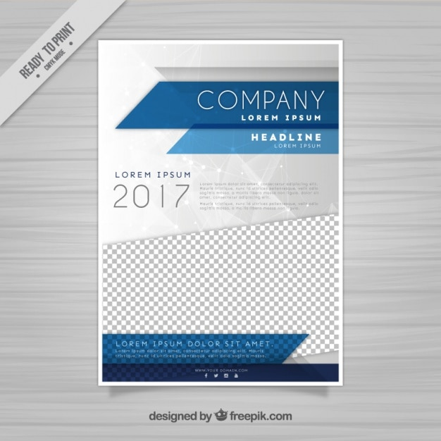 Company flyer template Free Vector