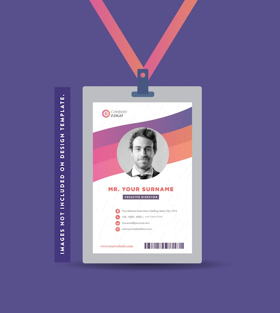 Company id card design | visiting card and personal business card design Premium Vector