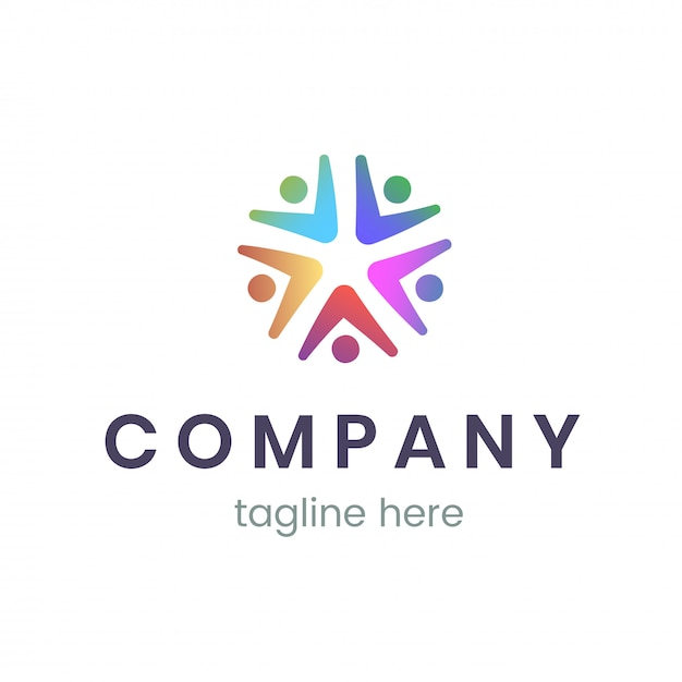 Company logo design template. trendy sign for business and branding. Premium Vector