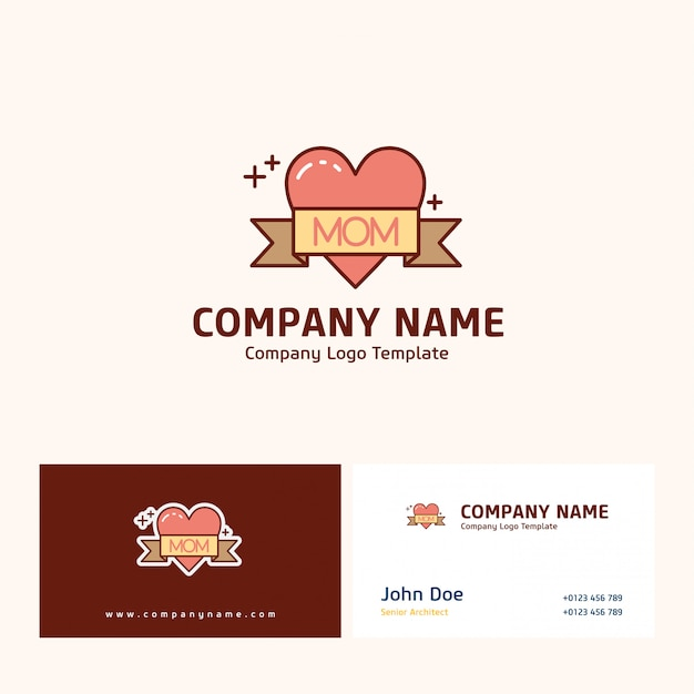 Company logo design with name based on mother's day vector Free Vector