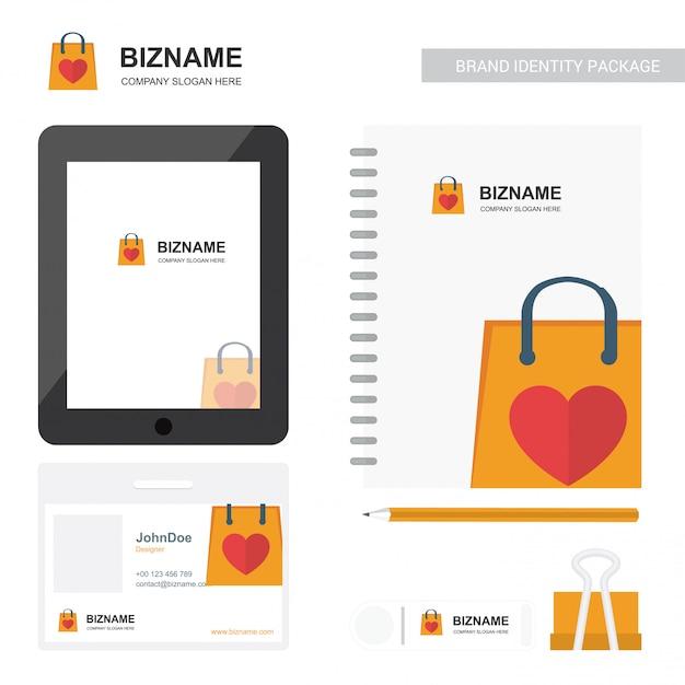 Company logo stationary branding Premium Vector