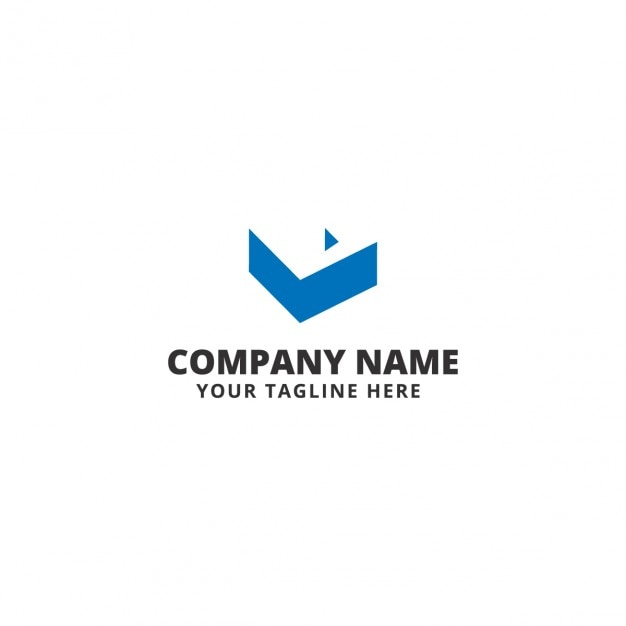 Company logo with abstract piece