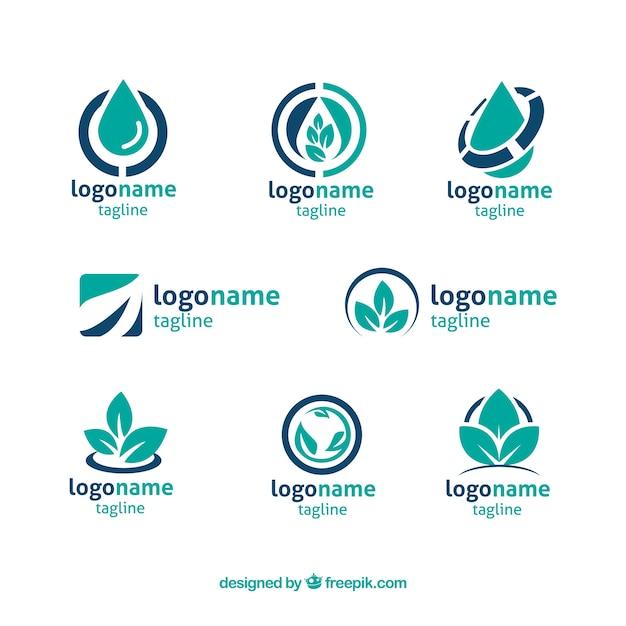 company logos in blue tones vector free download