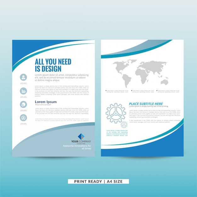 Company Marketing Brochure Template Vector Free Download - Free marketing brochure templates