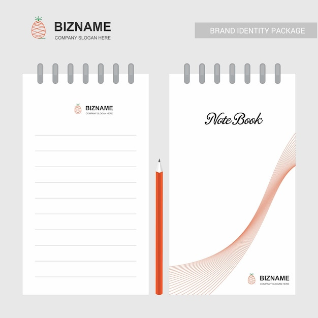 Company notebook and diary with creative design vector Premium Vector