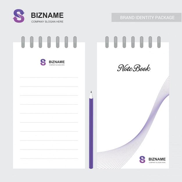 Company notebook with a unique design vector Premium Vector