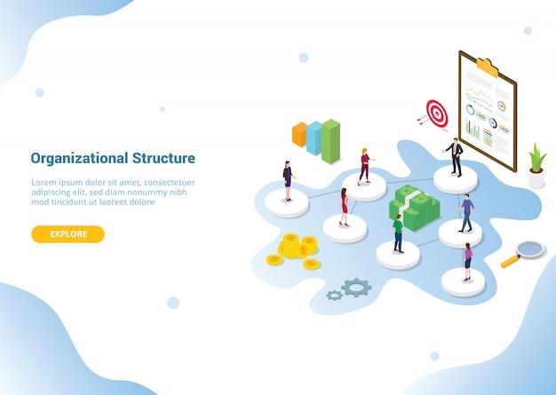 Webサイトテンプレートの会社または組織の構造 Premiumベクター