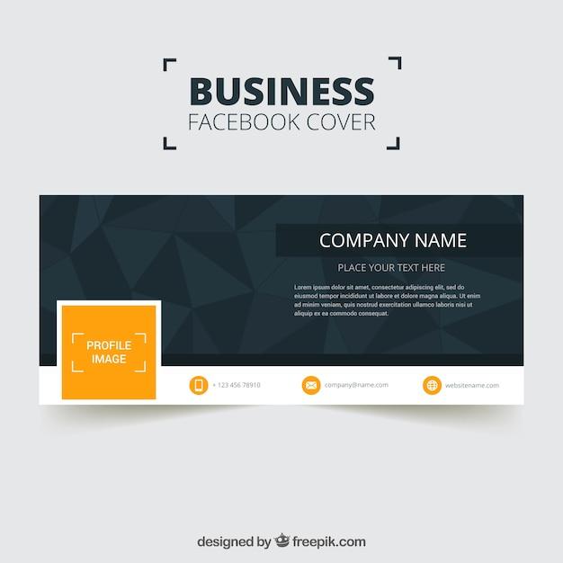 Company polygonal facebook cover