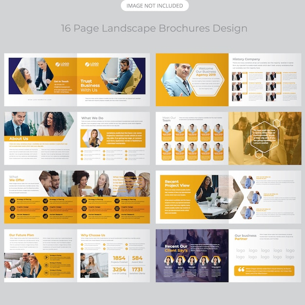 Company profile brochure design Premium Vector