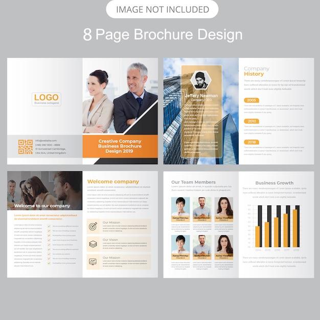 Company profile brochure template Premium Vector