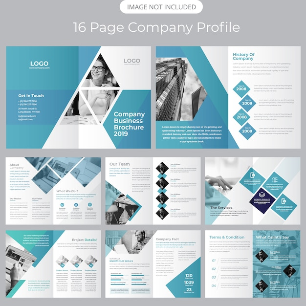 Company profile brochure template Premium Vector